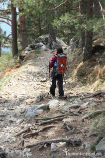 Camino Schmid ruta en el valle de la fuenfria