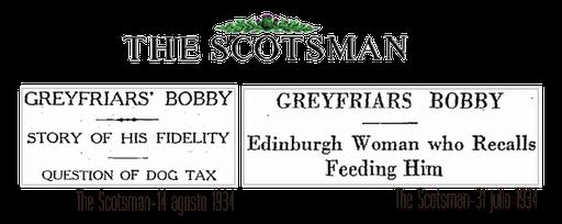 Articulos The Scotsman sobre Bobby el perro más famoso de Escocia