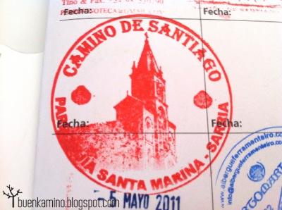Sello credencial Camino Francés Sarria