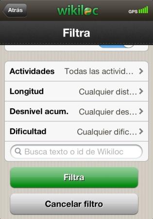 app wikiloc busqueda