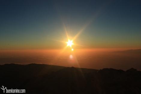 Amanecer en el Teide salida del sol