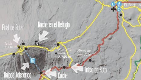 mapa teide