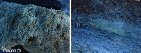 Piedra pomez y azufre