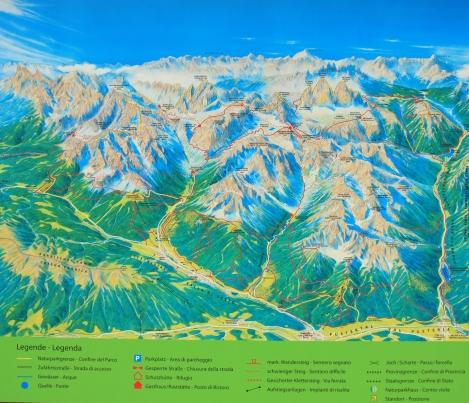 Mapa de senderos Dolomitas