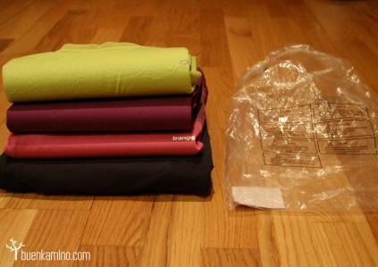 ropa organizada mochila