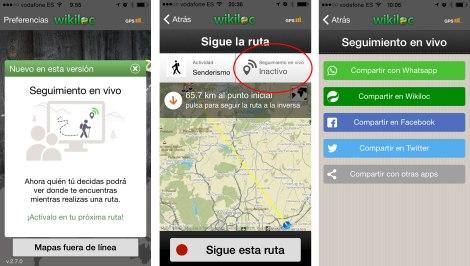 Compartir rutas wikiloc