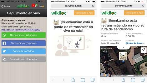 como compartir wikiloc